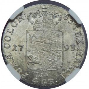 SAP, 1 złoty 1793 MV, Warszawa, NGC MS63