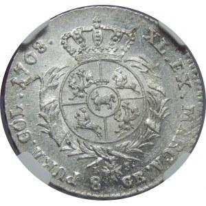 SAP, 2 złote 1768 IS, Warszawa, NGC MS62