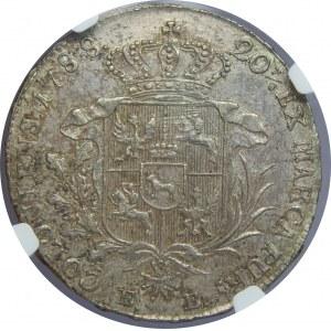 SAP, Półtalar 1788 EB, Warszawa, NGC AU53