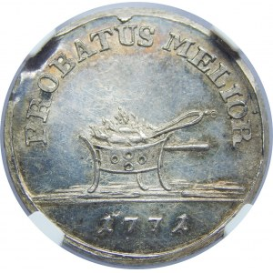 SAP, PRÓBA 1 złoty 1771, Warszawa, NGC MS63