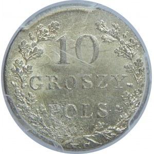 Powstanie Listopadowe, 10 groszy 1831-łapy orła proste, PCGS MS64