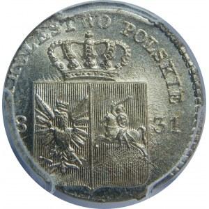 Powstanie Listopadowe, 10 groszy 1831-łapy orła proste, PCGS MS65