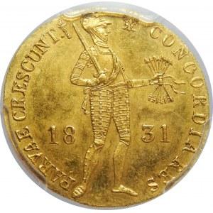 Powstanie Listopadowe, Dukat 1831-kropka przed pochodnią, PCGS MS64