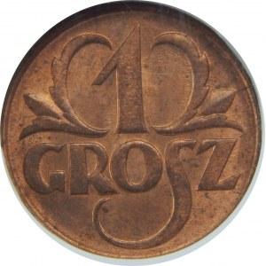 1 grosz 1925 NGC MS64 RB