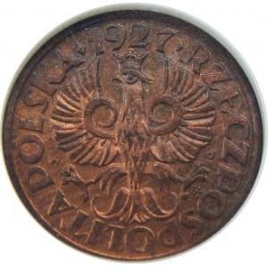 1 grosz 1927 NGC MS64 RB