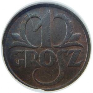 1 grosz 1928 NGC MS64 BN