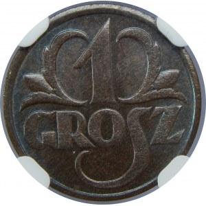 1 grosz 1931 NGC MS65 BN