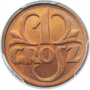 1 grosz 1932 PCGS MS66 RD
