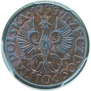 1 grosz 1933 PCGS MS66 RB