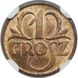 1 grosz 1934 NGC MS66 RB