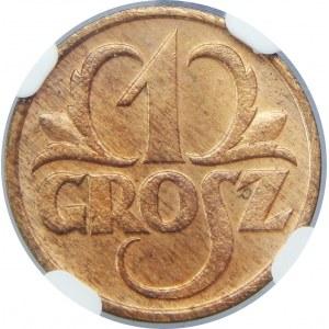 1 grosz 1934 NGC MS65 RB
