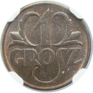 1 grosz 1935 NGC MS65 RB
