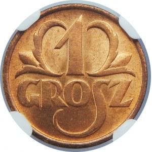1 Grosz 1936 NGC MS66 RD