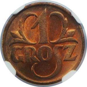 1 Grosz 1938 NGC MS65 RB