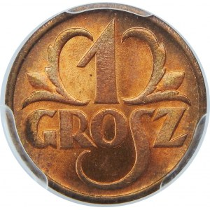 1 Grosz 1938 PCGS MS65 RD