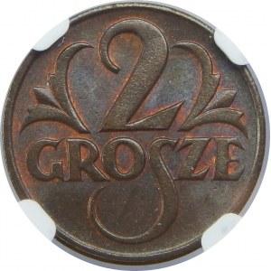 2 Grosze 1925 NGC MS64 BN