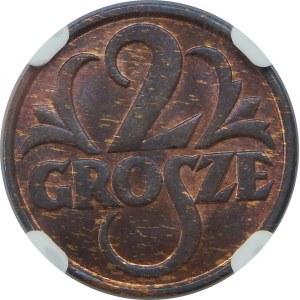 2 Grosze 1928 NGC MS64 RB