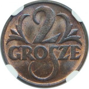 2 Grosze 1935 NGC MS65 RB