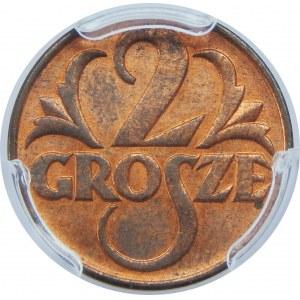 2 GROSZE 1939 PCGS MS64 RB