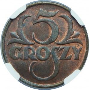 5 GROSZY 1925 NGC MS64 RB