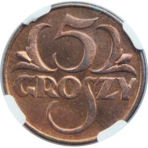 5 Groszy 1930 NGC MS64 RB