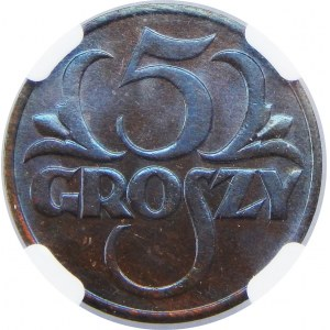 5 Groszy 1931 NGC MS65 BN