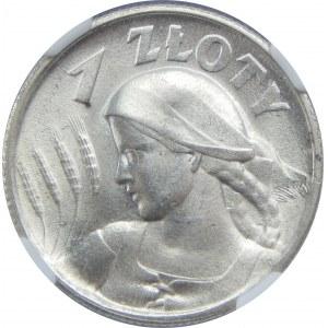 1 złoty Żniwiarka 1925 NGC MS64