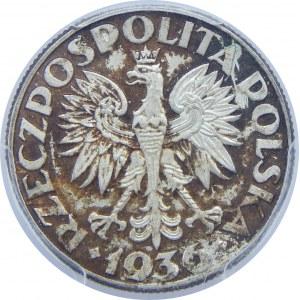 2 Złote Żaglowiec 1936 PCGS MS64