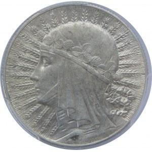 5 Złotych Głowa Kobiety BZM 1932 PCGS AU58