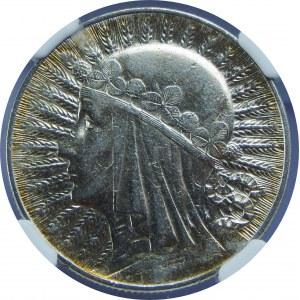 5 złotych Głowa Kobiety ZZM 1932 NGC AU53