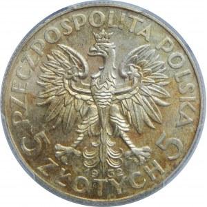 5 złotych Głowa Kobiety ZZM 1932 PCGS MS62
