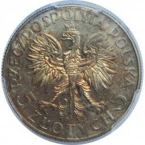 5 złotych Głowa Kobiety 1933 PCGS MS62