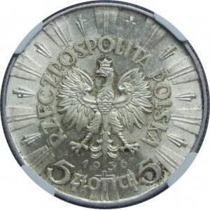 5 Złotych Piłsudski 1936 NGC MS63