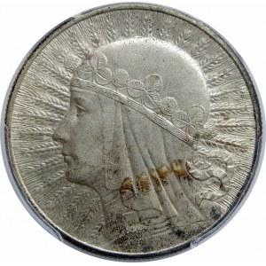 10 złotych Głowa Kobiety 1933 PCGS AU58