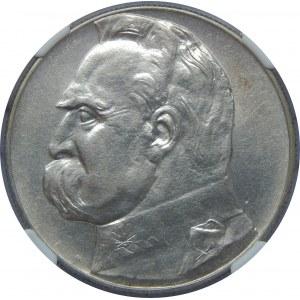 10 Złotych Piłsudski 1934 NGC AU Details