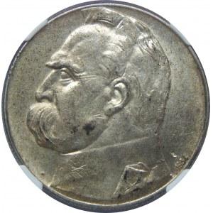 10 Złotych Piłsudski 1934 Strzelecki NGC AU58