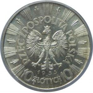 10 Złotych Piłsudski 1935 PCGS MS63