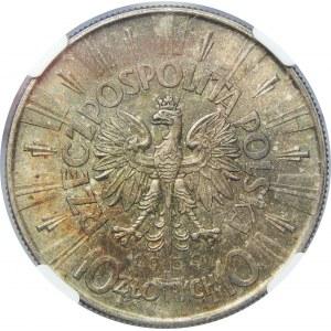 10 Złotych Piłsudski 1939 NGC MS63