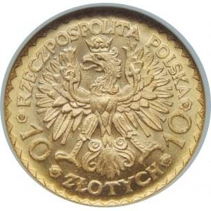 10 Złotych Bolesław Chrobry 1925 NGC MS66