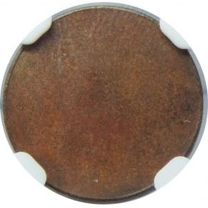 PRÓBA 1 grosz 1923 odbitka rewersu NGC MS64 BN
