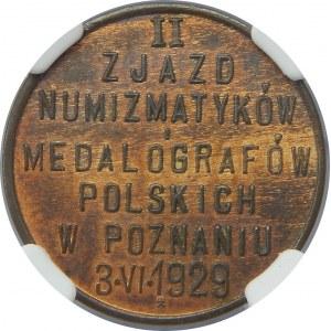 PRÓBA 5 groszy 1929 II Zjazd Numizmatyków NGC MS63 BN