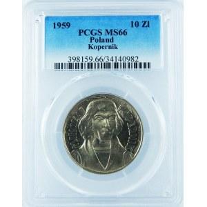 10 Złotych 1959 Mikołaj Kopernik PCGS MS66
