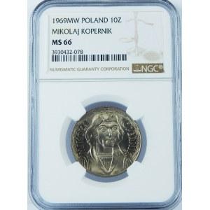10 złotych 1969 Mikołaj Kopernik NGC MS66