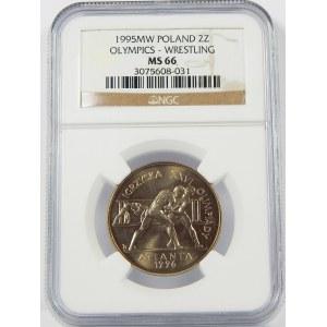 2 złote 1995 Atlanta NGC MS66