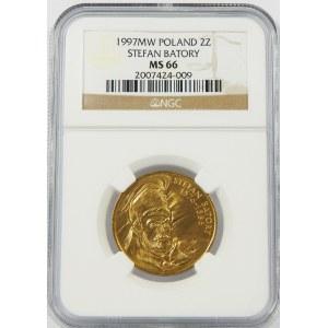 2 złote 1997 Stefan Batory NGC MS66
