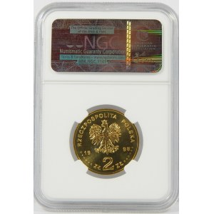 2 złote 1998 Adam Mickiewicz NGC MS66