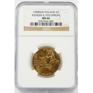 2 złote 1998 Rad i Polon NGC MS66