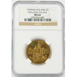 2 złote 1999 Pałac Potockich NGC MS66