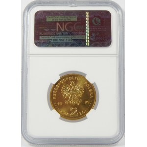 2 złote 1999 Jan Łaski NGC MS67