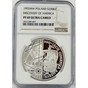 200000 zł 1992 Odkrycie Ameryki NGC PF69
